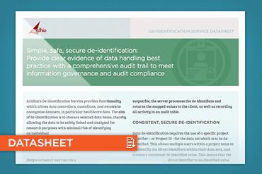 De-identification Service datasheet