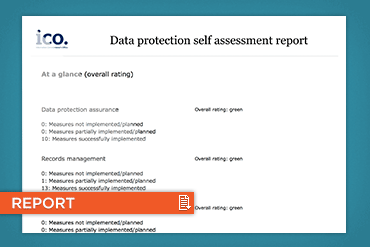 ICO data protection report