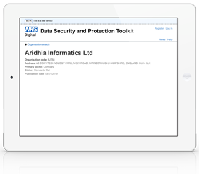 NHS Data Security and Protection toolkit