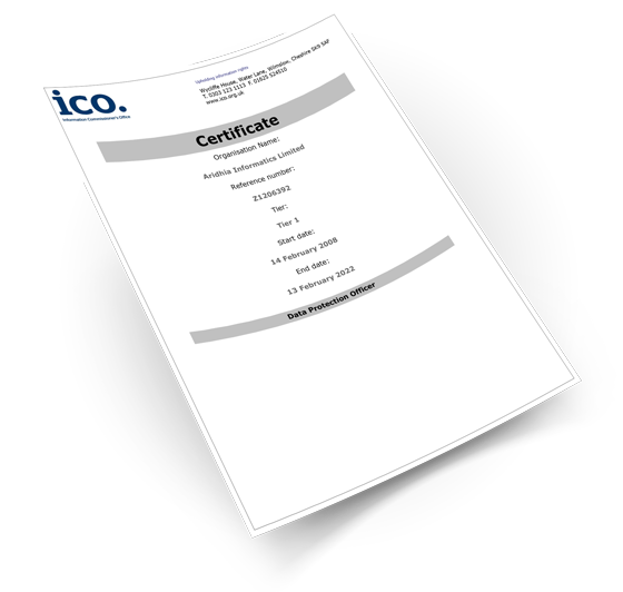 ICO Registration Certificate